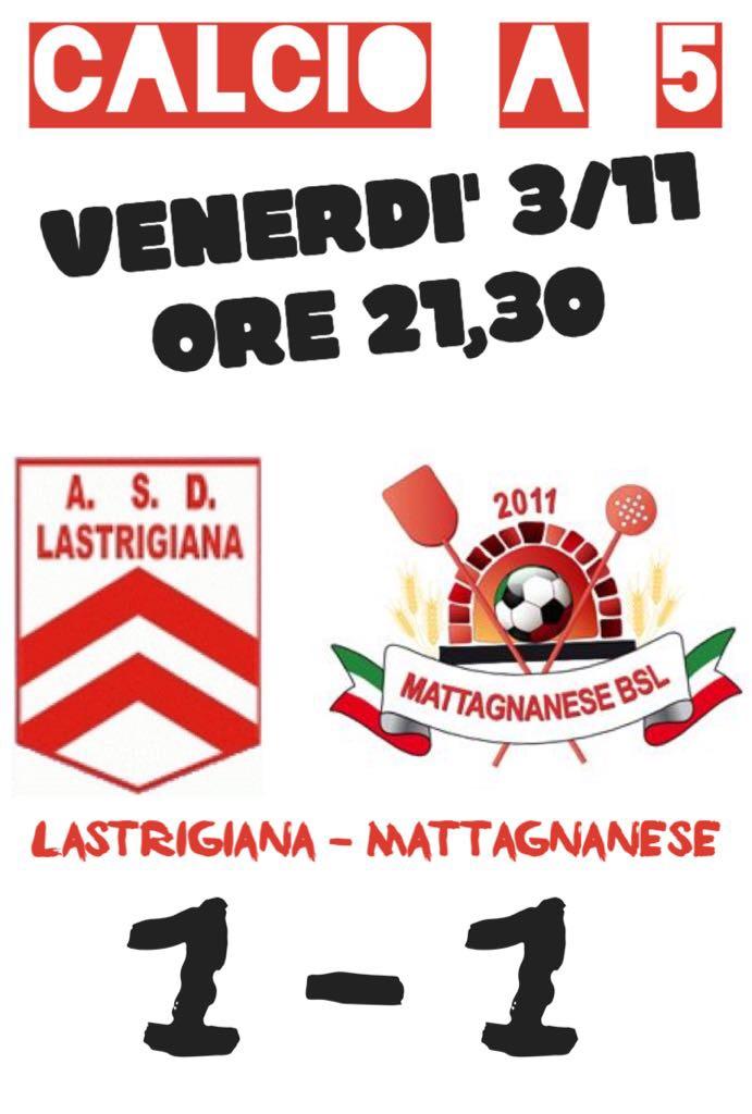 8^ GIORNATA CALCIO A 5: IL BIG MATCH FINISCE PARI
