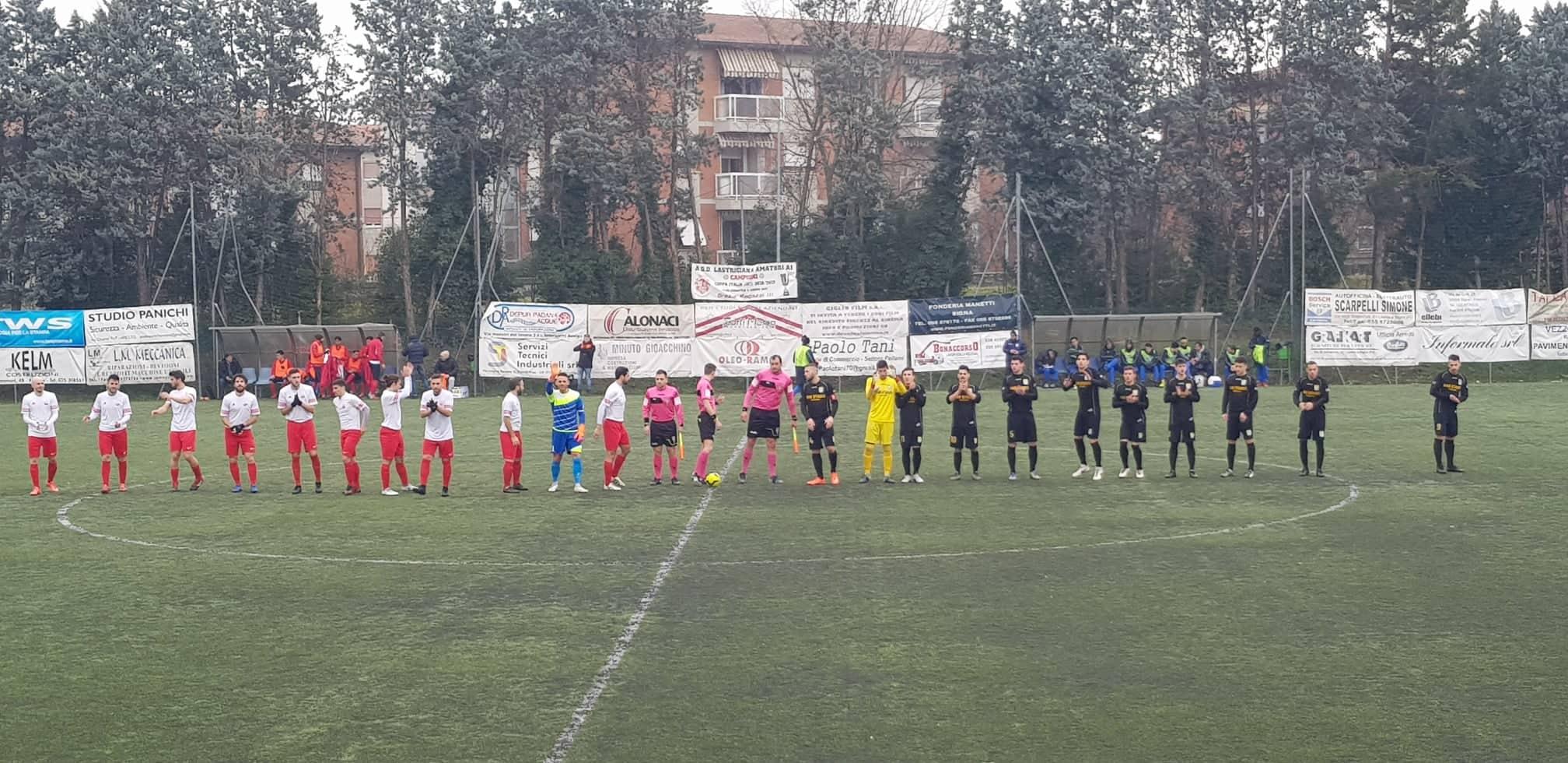 Lastrigiana-Valdarno 0-0: i biancorossi resistono in inferiorità numerica